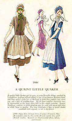 """A Quaint Little Quaker"" masquerade costume pattern, c. 1920's."
