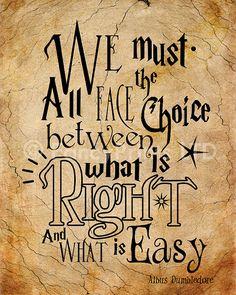 Cadeau Harry Potter cite Albus Dumbledore par FancyPrintsforHome