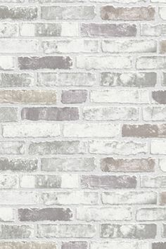 Gray and white wallpaper gray white brick wallpaper grey and white star wallpaper border . gray and white wallpaper Brick Wallpaper Accent Wall, Brick Wallpaper Living Room, Brick Wall Bedroom, Brick Accent Walls, Faux Brick Walls, White Brick Walls, Brick Wallpaper Basement, Textured Brick Wallpaper, White Brick Backsplash