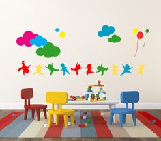 Vinyl Kids Wall Decal Clouds Balloons  Sticker Home Decor  Wall Decals  Sticker  Removable by LaLuShop on Etsy https://www.etsy.com/listing/173442267/vinyl-kids-wall-decal-clouds-balloons