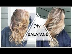 DIY: Balayage/Ombré Hair at Home!! - YouTube   Hi Guys!! This was a super cheap and easy way to brighten your hair for summer! Get the honey dipped/ balayage look for under $20 :)