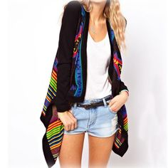 Unique Ethnic Geometric knit &Cardigan for only $29.99 ,cheap Sweaters & Cardigans - Clothing & Apparel online shopping,Unique Ethnic Geometric knit &Cardigan