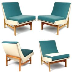 We fell in love with this Pierre Guariche seat, 1955. Click on the image if you like mid-century modern furniture!