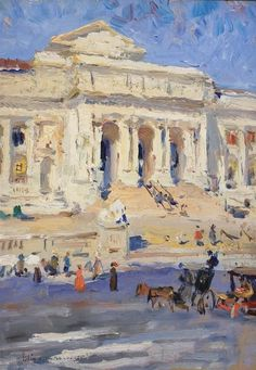 New York Public Library Colin Campbell Cooper Ca 1912 Nyc ArtImpressionist