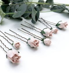 Blush/nude pink Rosebud Hair Pins — Daisy & Tanya The Blushed Nudes, Boho Look, Rose Buds, Bridal Collection, Hair Pins, Blush Pink, Bobby Pins, Your Hair, Daisy