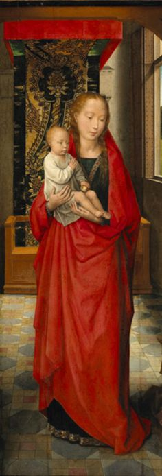 By Hans Memling  (Flemish, 1440-1494), 1440-94,  The Virgin and Child with St. Anthony Abbot and a Donor, oil on oak.
