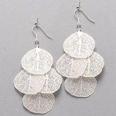 Laser Cut Liv Chandelier Earrings in Silver | Awesome Selection of Chic Fashion Jewelry | Emma Stine Limited