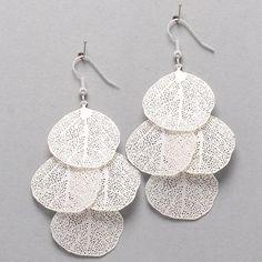 Laser Cut Liv Chandelier Earrings in Silver on Emma Stine Limited
