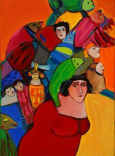 """Armanda Passos - Pintura - Artodyssey - Armanda Passos nasceu em 1944, no Peso da Régua. Licenciou-se em Artes Plásticas na Escola Superior de Belas Artes do Porto. Expõe desde 1976.   Foi professora de Tecnologia da Serigrafia no Centro de Reabilitação Vocacional da Granja, monitora de Tecnologia da Gravura na ESBAP (1977-1979) e membro do grupo """"Série"""" Artistas Impressores."""