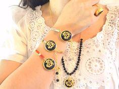 Black onyx gemstone Allah name Allah jewelry by KURSIJEWELRY #fashion #bracelet #goldplated #jewelry #accessories #armcandy #princess #fashionista #turkish #arabiccalligraphy #muslimfashion #abaya #hijabi #hijab #arabfashion #scarf #muslim