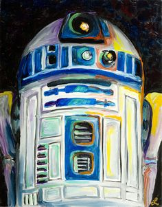 """""""R2D2″ painting by artist Lani Woods"""