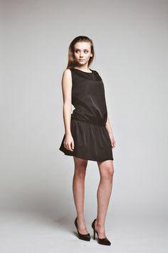 sukienki-Sukienka Casual Chic Dress oversized  casual black tunic