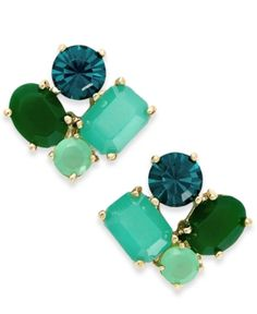 Kate Spade New York Gold Tone Cluster Stud Earrings | Jewelry and Accessory