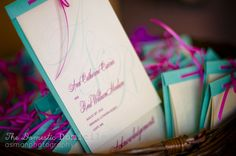 colorful wedding programs