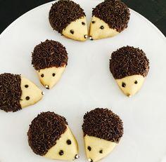 Hedgehog Recipe, Hedgehog Treats, Hedgehog Cookies, Hedgehog Cake, Chocolate Sprinkles, Melting Chocolate, Gourmet Cookies, Baking With Kids, Chocolate Decorations