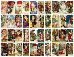 Vintage Santa printable tags