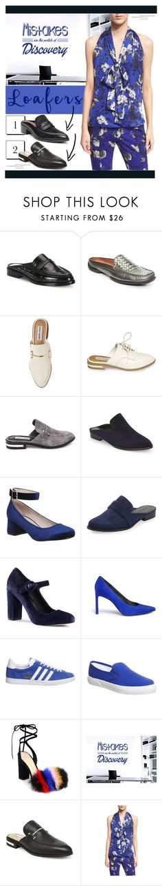 """Fall Footwear Trend: Loafer Slides"" by yours-styling-best-friend ❤ liked on Polyvore featuring Alexandre Birman, Donald J Pliner, Steve Madden, Robert Clergerie, Office, Rebecca Minkoff, Lands' End, Stuart Weitzman, adidas and Loeffler Randall"