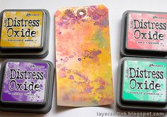 Layers of ink: Pastel Easter Tag Tutorial Distress Ink Techniques, Embossing Techniques, Stamp Making, Card Making, Scrapbook Albums, Scrapbooking, Art Journal Tutorial, Distress Oxide Ink, Handmade Tags