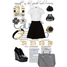 A fashion look from March 2015 featuring Alice + Olivia dresses, Prada oxfords and Jimmy Choo tote bags. Browse and shop related looks.
