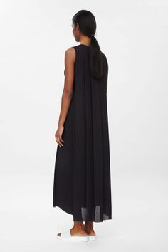 Tie-waist black pleated maxi-dress by COS. I love it! It's exquisite.