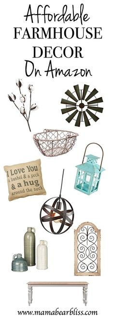 Decorate your home with Farmhouse Décor from Amazon - Affordable Farmhouse Décor on Amazon | www.mamabearbliss.com