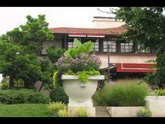 Burton and Orpha Westcott House. 1908. Springfield, Ohio. Prairie Style. Rehabilitated in 2001. Frank Lloyd Wright