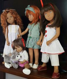 My wigged kids. Sasha Doll, Doll Outfits, Doll Hair, Doll Toys, Roots, Doll Clothes, Wigs, Childhood, Babies