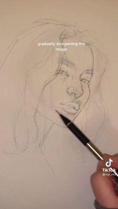 Art Drawings Beautiful, Art Drawings Sketches Simple, Pencil Art Drawings, Realistic Drawings, Good Easy Drawings, Pencil Sketching, Drawing Ideas, Drawing Techniques, Art Sketchbook