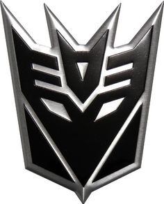 Transformers Decepticons Aluminum Large Emblem in Black
