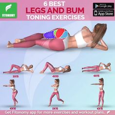 Wednesday is for legs and bum workout 💪🏼💪🏼 tag someone and don't forget to bookmark this workout. Bum Workout, Toning Workouts, Fitness Herausforderungen, Health Fitness, Health Diet, Gym Tips, Mental Training, Flexibility Workout, Thigh Exercises