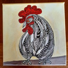 Rooster by Anna Strøm, Original painting, acrylic painting, black ink,gallery,contemporary art,kunst,modern art,painting, animals paint,cockfighting,hane,Rooster,Norwegian art,Scandinavian art,artwork, art studio,gallery Modern Art Paintings, Animal Paintings, Original Paintings, Ink Gallery, Scandinavian Art, Decorating With Pictures, Rooster, Contemporary Art, Anna