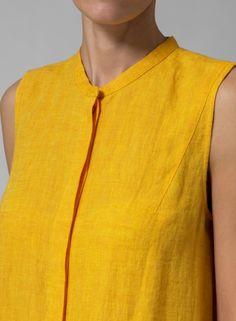 MISSY Clothing - Linen Sleeveless A Line Long Tunic