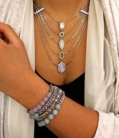 No need to layer in our Modern Mosaic Multi-Row Chain Necklace - We already did it for you!