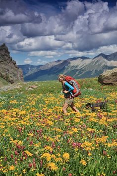 Hiker in the San Juan Mountains CO