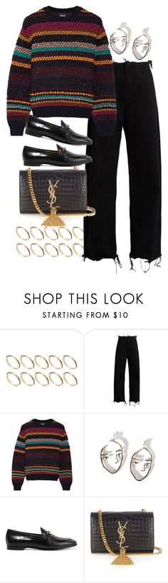 """""""Untitled #10121"""" by nikka-phillips ❤ liked on Polyvore featuring ASOS, Marques'Almeida, Just Cavalli, Gucci and Yves Saint Laurent"""