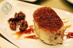 Crema de queso con nueces caramelizada (Tapapostre)