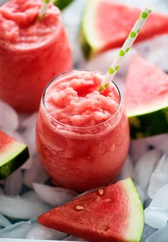 Quench your thirst with these 2 ingredient Watermelon Lemonade Slushies!