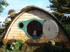Wooden Wonders - Hobbit Holes for work or play - WHAT?! These are so fun!
