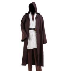 Halloween Jedi Cloak.Channel the force or the dark side with this Jedi Cloak this Halloween. The Hooded Robe is tailored to Adult Men.