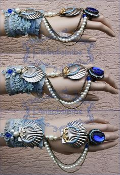 need to stock up on lots of shinies Arctic mermaid bracelet by Pinkabsinthe on deviantART Mermaid Bra, Mermaid Crown, Mermaid Outfit, Mermaid Jewelry, Mermaid Tails, Mermaid Makeup, Dark Mermaid, Ocean Jewelry, Fairy Makeup