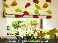 Floral Window Shades | Gallery of Window Blinds and Curtains Photographs