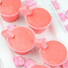 Pink starburst jello