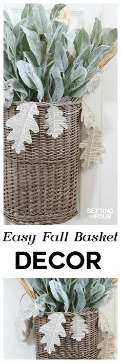 Easy DIY Fall Basket