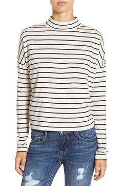 Free shipping and returns on BP. Stripe Long Sleeve Mock Neck Tee at Nordstrom.com. Skinny monochrome stripes stretch across a relaxed…