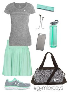 """""""Gym for days"""" by lizardbeth95 on Polyvore featuring Under Armour, ONLY, NIKE, Native Union and Contigo"""