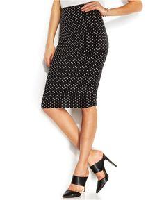 Vince Camuto Polka-Dot Midi Skirt - Skirts - Women - Macy's