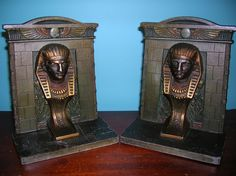 Egyptian revival bookends