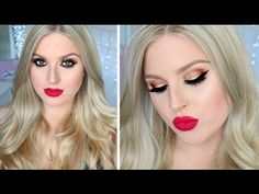 Todays makeup and hair look is perfect for the holiday season! Super glam and bold :) xox - GIGI HADID MAKEUP https://www.youtube.com/watch?v=9URg_U6Dt5s - N...