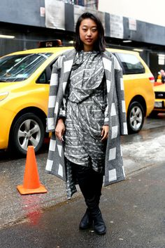 Street Style at New York Fashion Week Fall 2013 Photo 153