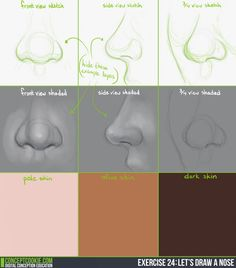 It's been requested many times, so let's take an isolated look at how to sketch, shade, and color the nose properly and accurately in the latest exercise! Check out the full details here: http://cgcookie.com/concept/2014/05/06/exercise-24-lets-draw-nose/